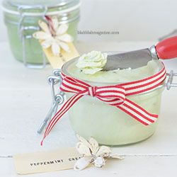 This luxurious peppermint foot cream, using coconut oil, is easy to make and will cure even the driest heels. Enjoy!