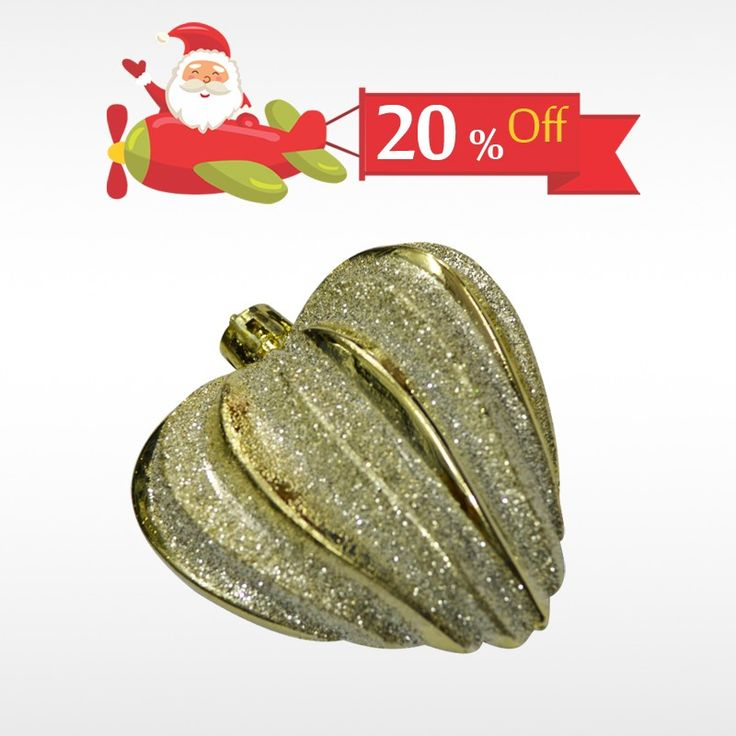 Decorate your #ChristmasTree with authentic Heart Shaped Tree Ornament & get 20% off on all #ChristmasDecor only at #BringHomeFestival
