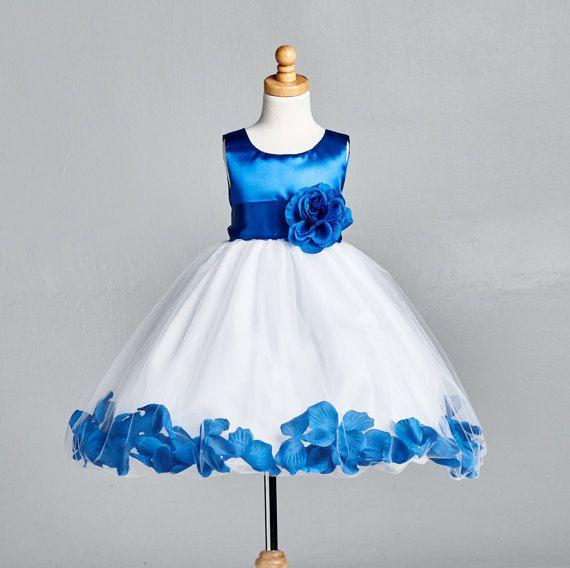 Royal blue dress 4t girl