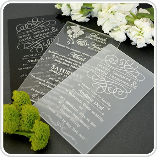 Acrylic Wedding Invites Paper In 2018 Pinterest Invitations And