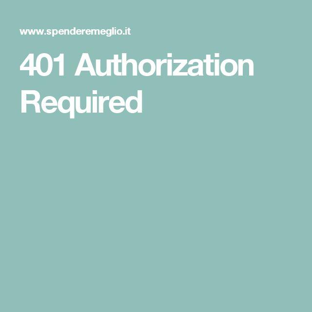 401 Authorization Required