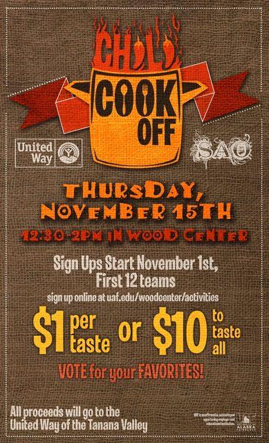November chili cookoff fundraiser                                                                                                                                                                                 More