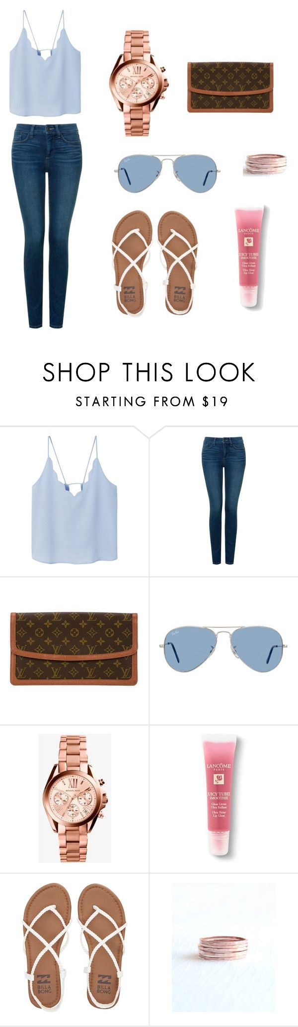Calming Casual Blue by virkotie on Polyvore featuring MANGO, NYDJ, Billabong, Louis Vuitton, Michael Kors, Olive Yew, Ray-Ban and Lancôme