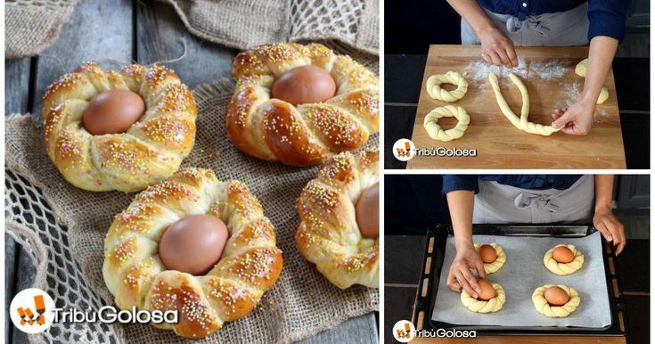 Iniziate la giornata di Pasqua con il piede giusto con queste coroncine di brioches!