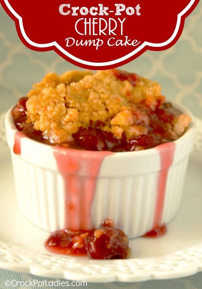 Crock Pot Cherry Dump Cake Recipe Simple Cherry Dump