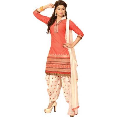 Buy Louis Vogue Orange Cotton Semi Stitched Suit by LOUIS  VOGUE, on Paytm, Price: Rs.1099?utm_medium=pintrest