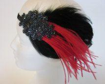 GREAT GATSBY haar accessoires, Great Gatsby jurk hoofdband, zilveren beading Fascinator, Charleston jurk zendspoel