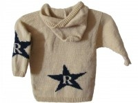 $92 Personalized Hooded Sweater with Initial and Star