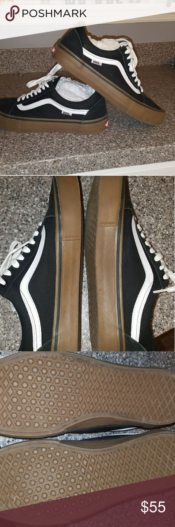 Vans Old Skool Pro skate shoes Brand New WOT. Worn to the car and back inside. Too small for my husband. Comes in box with black laces. Vans Shoes Athletic Shoes