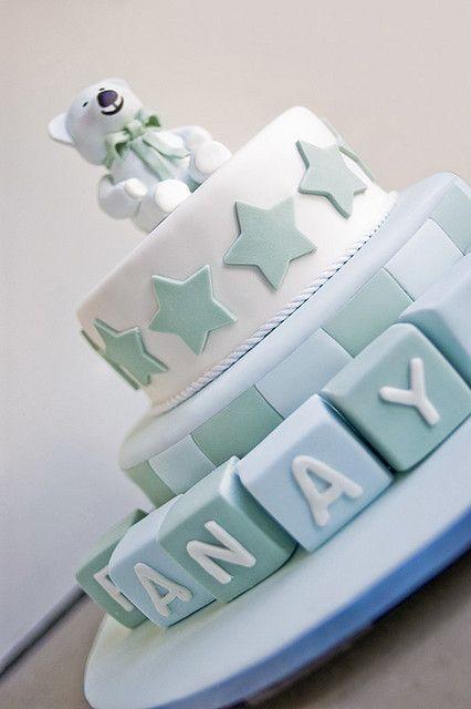 sweet tiers - christening - christening cake - teddy bear cake