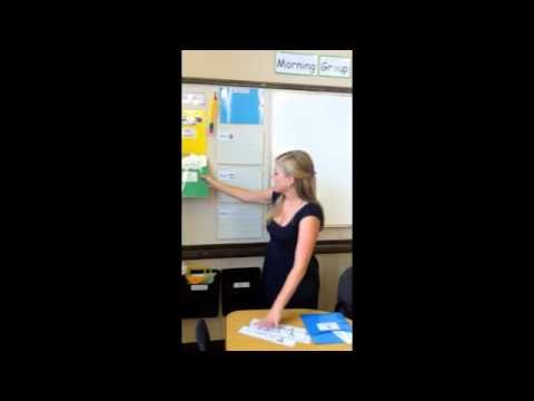 Video Tour of an Autism Classroom {Morning Meeting Area}