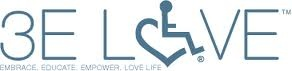 Link2.....3E Love, LLC. is a social entrepreneurial experiment to change the perception of disability. The company was started by siblings Annie & Stevie Hopkins in 2007 with the intent of promoting their unique symbol and social model of disability. The company's trademarked International Symbol of Acceptance (wheelchair heart logo) is the drive behind it's social mission to provide the tools for others to embrace diversity, educate society, and empower each other to love life.