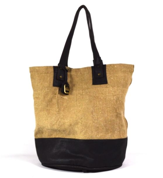 Jacono - Handmade canvas - leather bags - made in Parma – Italy  Art. 3704 grande secchiello in tessuto militare rigenerato e pelle. Dimensioni cm: Diametro base 34, Altezza 41. Interno manici 21