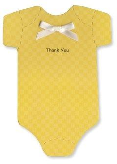 Baby Thank-you Cards – Sunshine Yellow Checked « Clothing Impulse