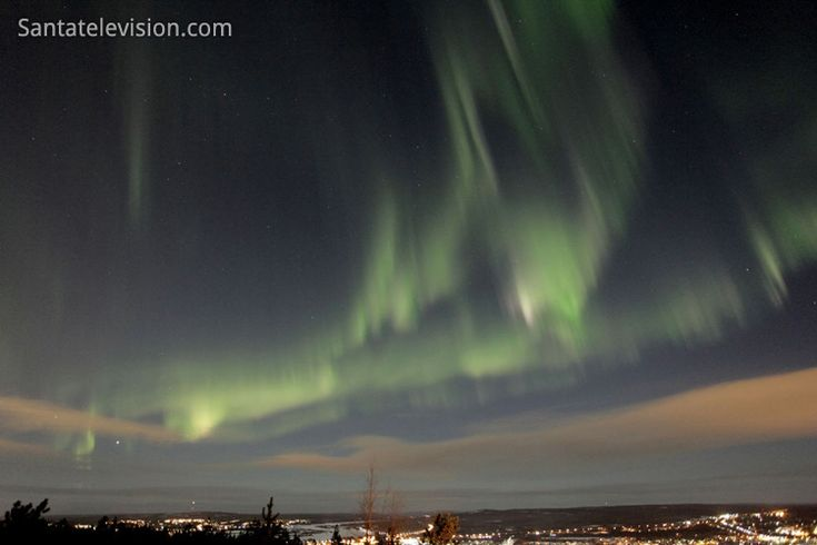 Northern lights in the sky of Rovaniemi in Lapland