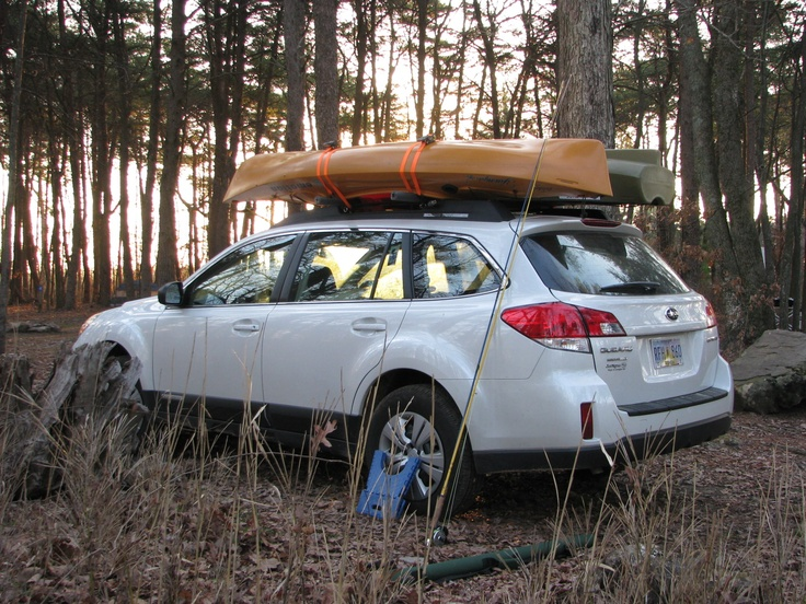 "Kayaks loaded on the Subaru Outback ""Adventure Wagon,"" DeSoto State Park, Alabama, spring 2011  #PENTAXADVENTUREINSPIRED"