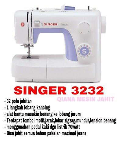 Speksiikasi singer 3232