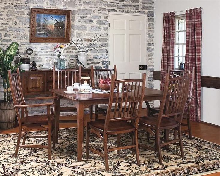Amish Appalachian Cherry Wood Chair ChairsDining Room