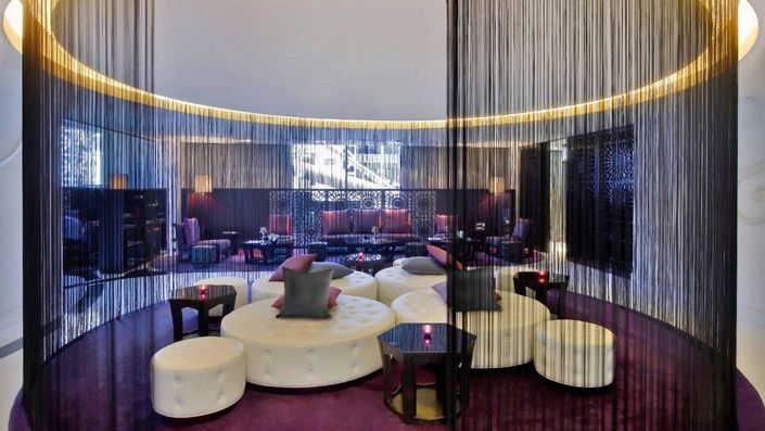 The most luxurious Hotel lobbies in Qatar, W Doha Hotel, is a recognized 5 star hotel with a very exotic and modern decor.