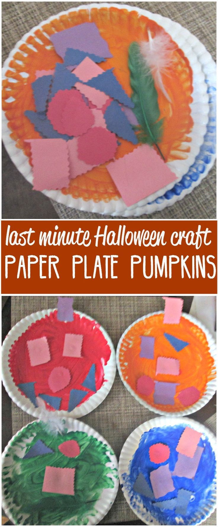 paper plate pumpkins paper plates halloween activities and plates minute halloween color halloween crafts shape plate pumpkins last minute paper plates halloween activities