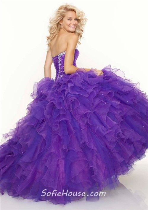 Purple Prom Dress Ball Gown