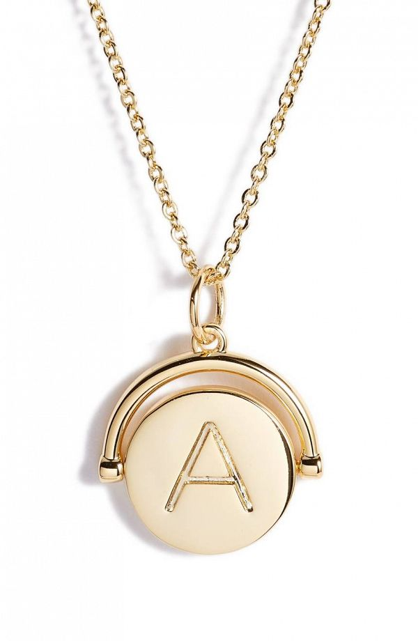 Bridesmaid Gift Jewelry #ad - Gold Spinning Initial Necklace