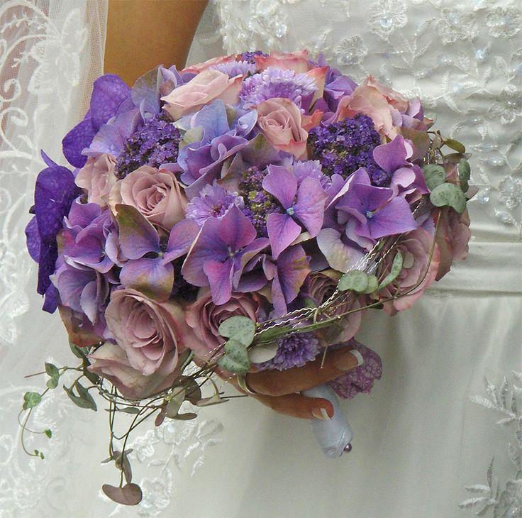 brudebukett lilla - Google Search