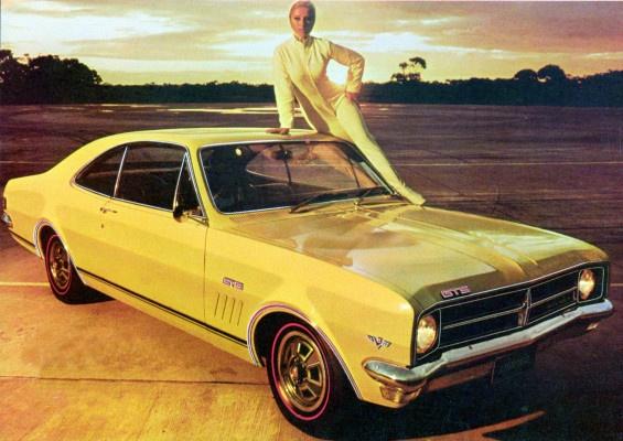 "1968 Holden HK Monaro GTS 327cc V-8 Coupe. There's a Wisper in the Wind, ""Monaro"". Warwick Yellow duco colour was the original colour of the first Monaro to come of the assembly line in Melbourne,Australia. v@e."