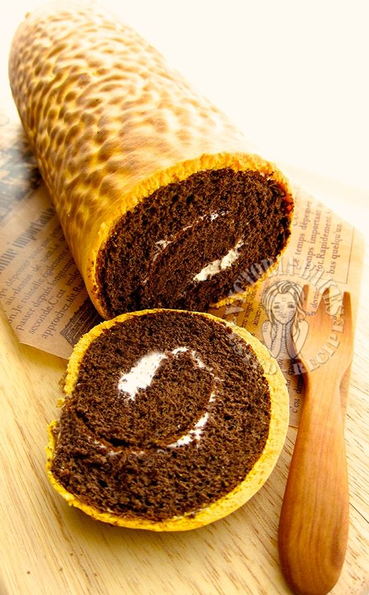 tiger skin chocolate swiss roll
