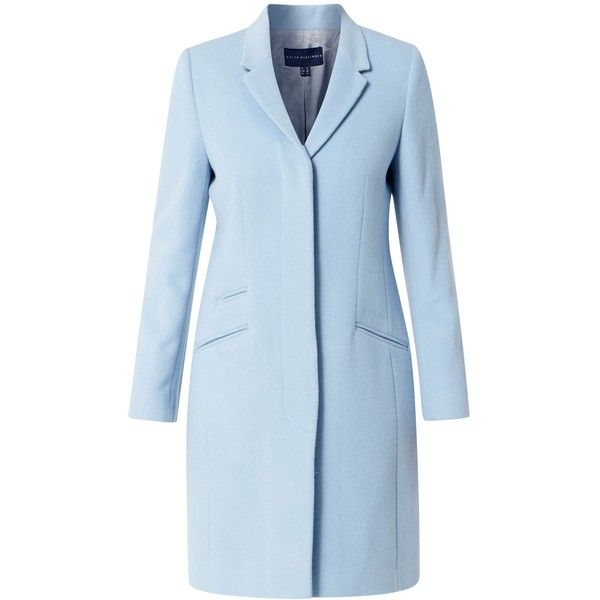 Helen McAlinden Crombie coat (33.115 RUB) ❤ liked on Polyvore featuring outerwear, coats, blue, women, knee length coat, crombie coat and blue coat