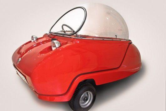 three-wheeled peel trident microcar
