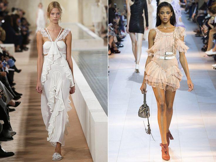 Платья с рюшами: Balenciaga, Roberto Cavalli