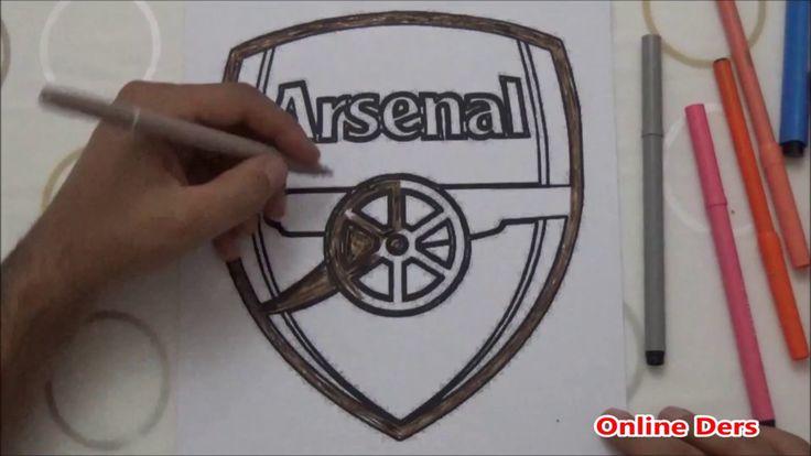 Arsenal Logo Boyama Arsenal Logos