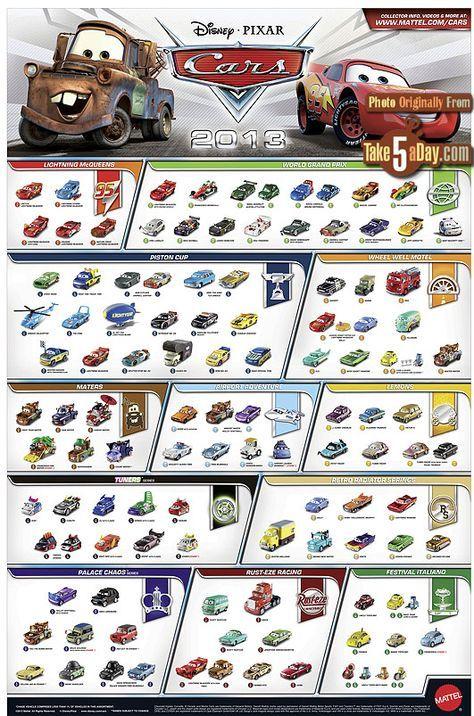 Mattel Disney Pixar CARS Diecast: Website & Poster | Take Five a Day
