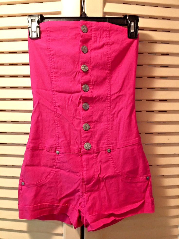 Juniors Size SMALL Body Central Hot Pink Romper Outfit #BodyCentral #Romper
