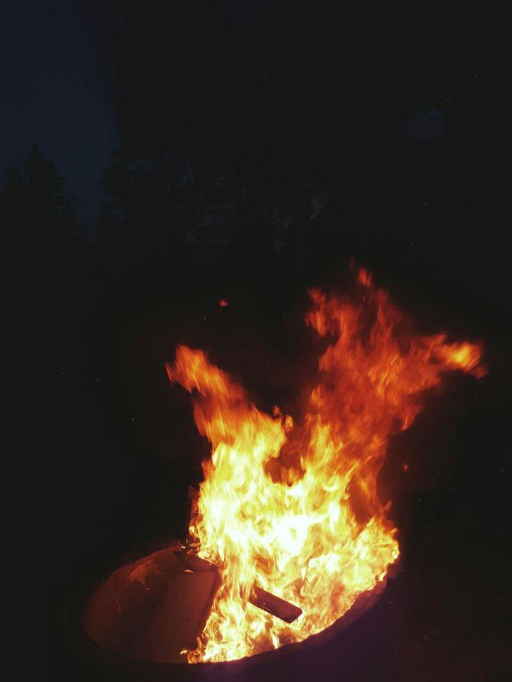 #Midsummer #bonfire