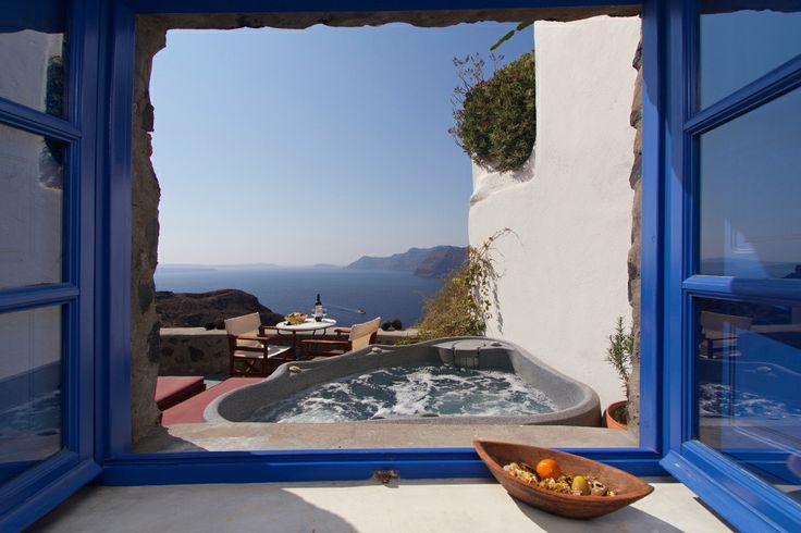 #Jacuzzi #Caldera #View #Santorini #Esperas