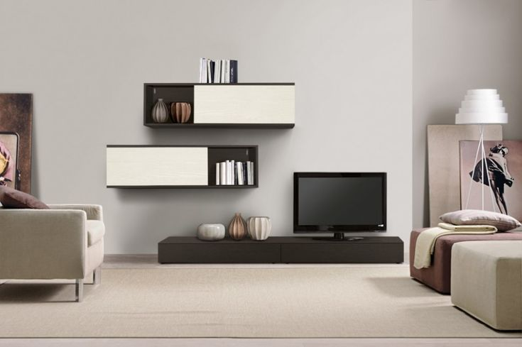 Living room simple contemporary wall cabinets also tv - Simple tv unit design for living room ...