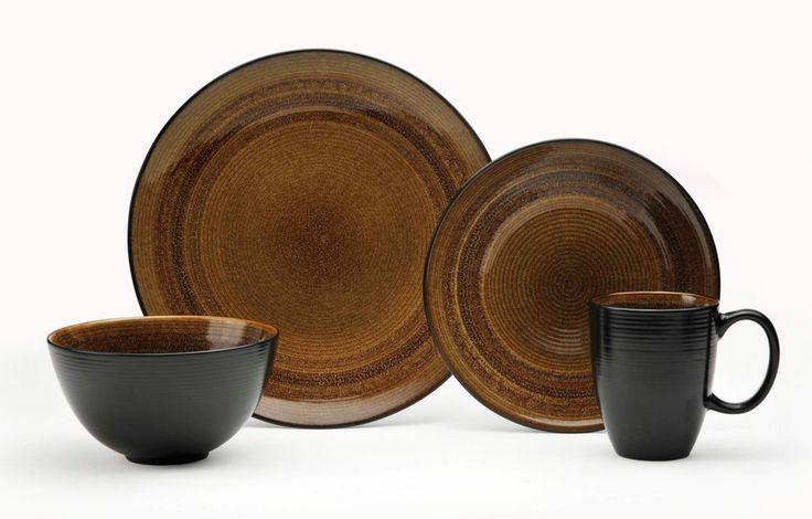 Beautiful brown dinnerware