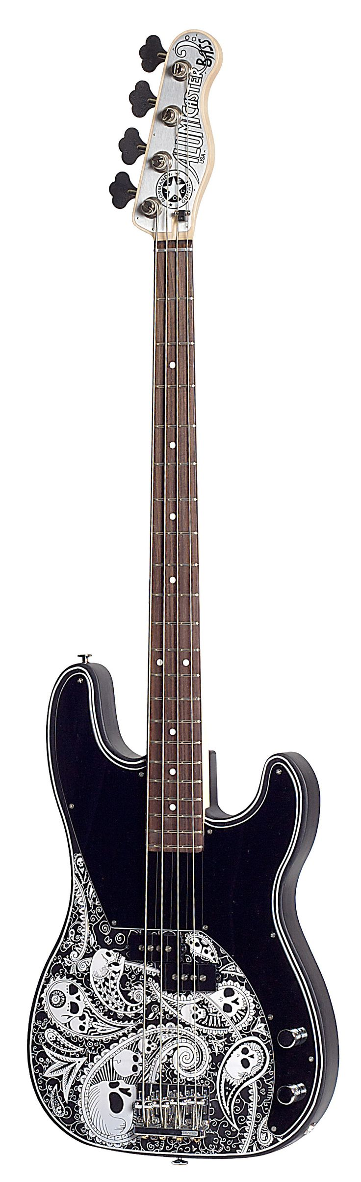 Normandy Alumicaster Paisley & Skulls Bass | Aluminium Body constructed of aircraft-grade material