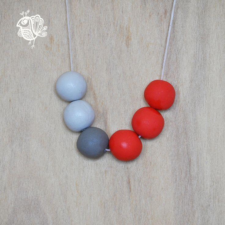 Handmade Originals Necklace - Polish Red