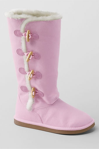 Lillian Toggle Boots from Lands' End...for my love of all things pink