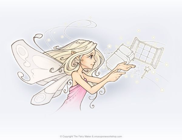 """One of the wee drawing we made for a lovely little book called """"Caitlin & her Fairy Keeper"""" written by @thefairymakers"""