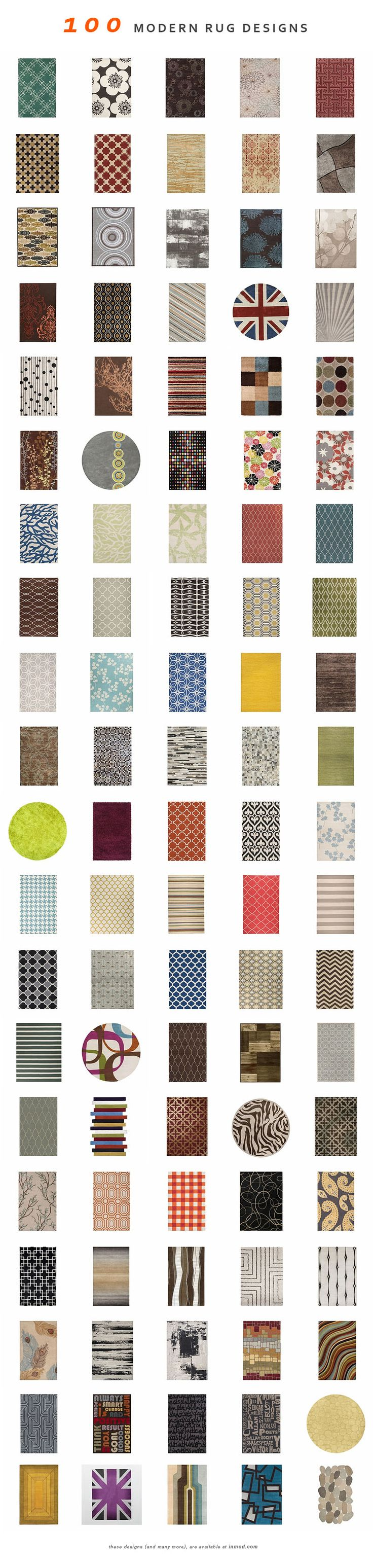 100 Modern rugs (and hundreds more) at Inmod