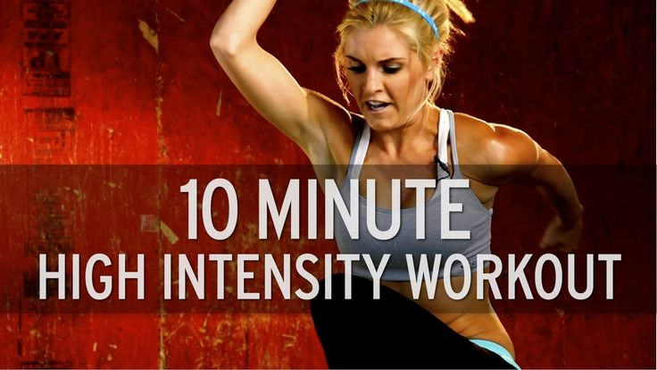 10 Minute High Intensity Workout..corny but makes ten mins fly by