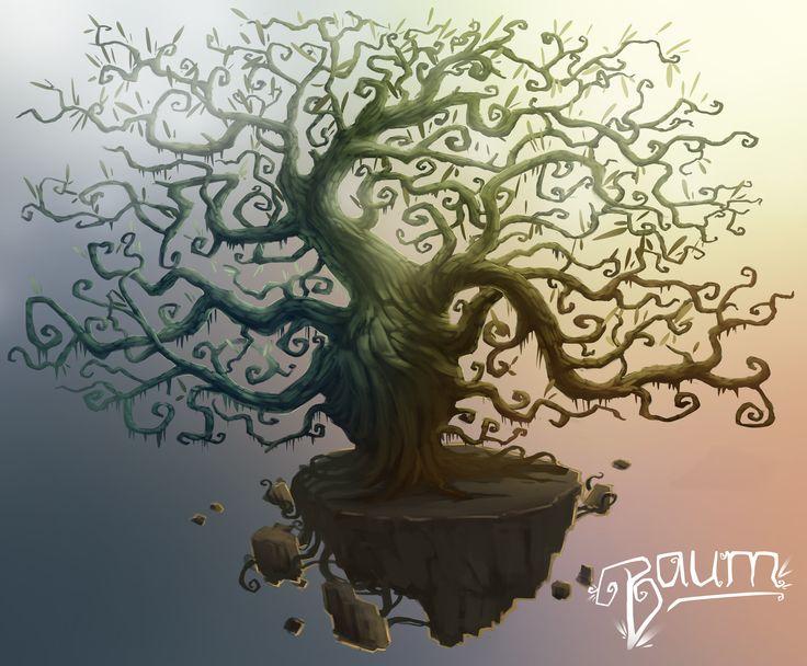 """Baum"" Early Concept Art  (Art Style) By Dom Littler (A Fox Wot I Drew)   #Baum #Gamedev #Indie Game #Video Games #Art #Illustration #Design #Trees #Concept art"
