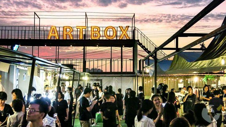 Mercado Artbox em Banguecoque