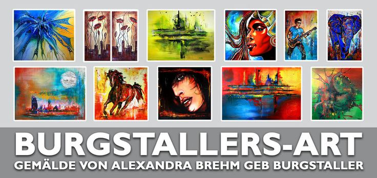 BURGSTALLER Trilogie blau gelb rot abstrakt Kuenstler Bild Gemälde kaufen 50x60