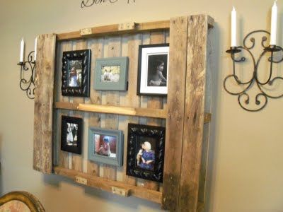 homemade picture frame ideas, Wow this is exactly what I've been thinking of making!!