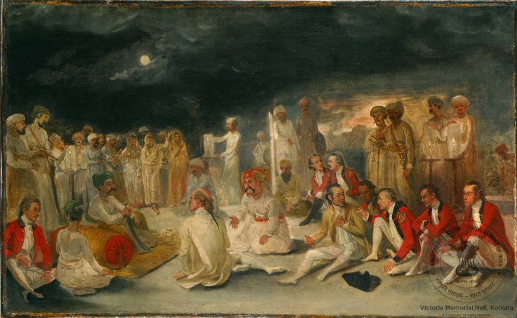 Warren Hastings meeting the Nawab of Oudh at Lucknow in 1784